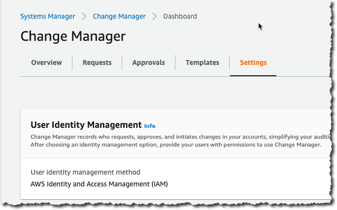 Change Manager Settings