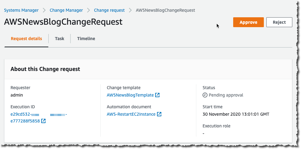 Change Manager Review Change Request