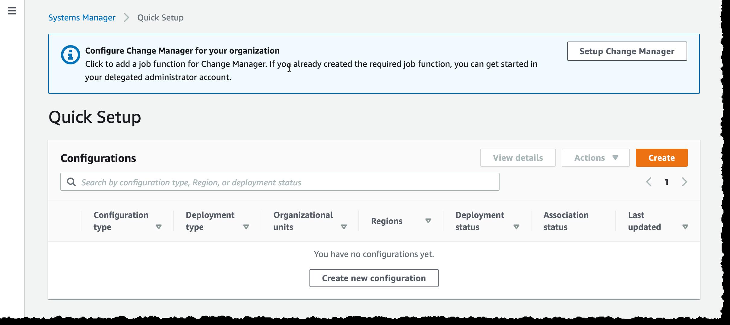 Change Manager Quick Setup
