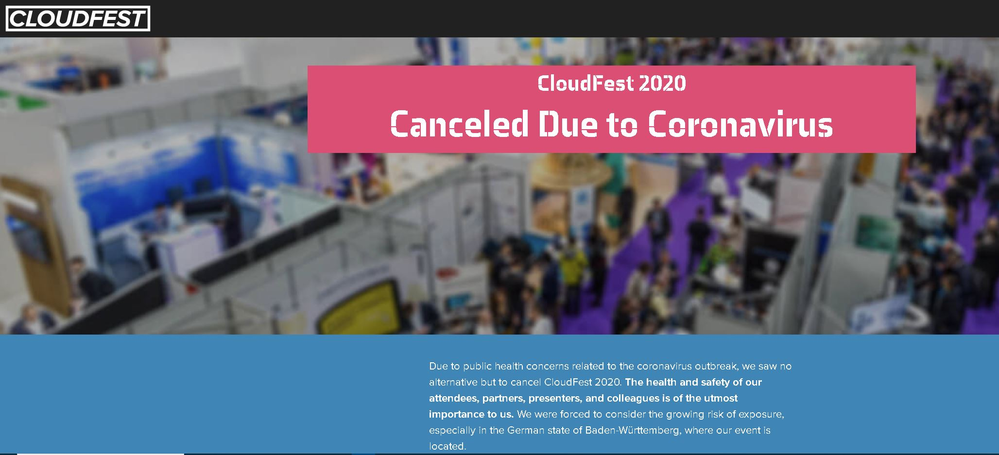 CloudFest 2020 is afgelast