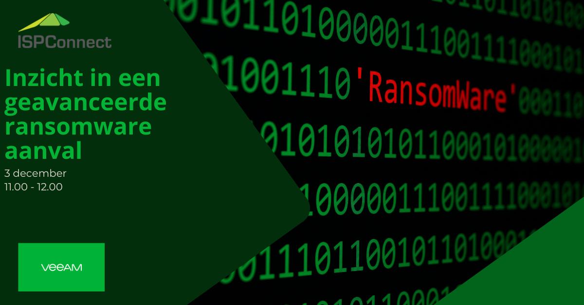 Bekijk het webinar 'Inzicht in een geavanceerde ransomware aanval'.