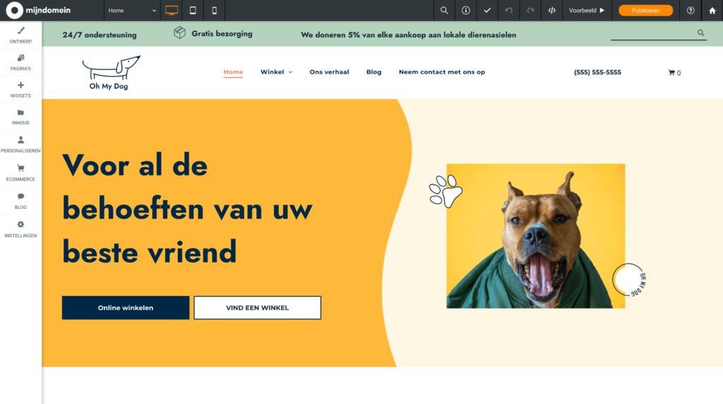Mijndomein webshop dierenwinkel sjabloon