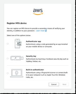 Register MFA Device