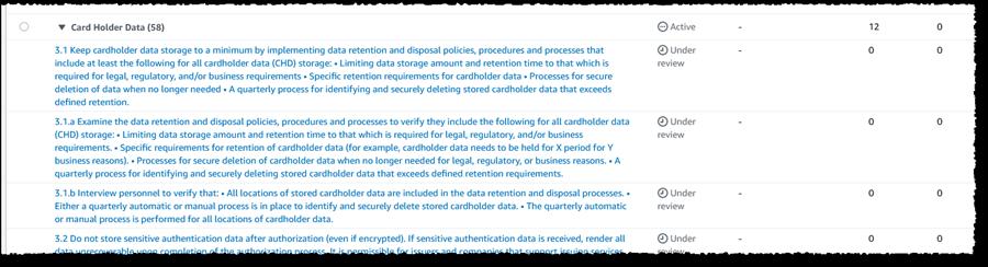 Screenshot of assessment control
