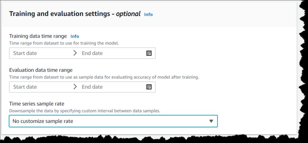 setting up evaluation window