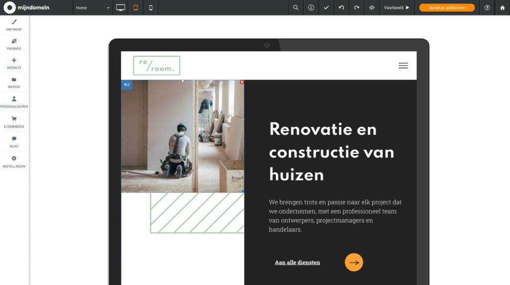 websitemaker sjabloon renovatie en constructie