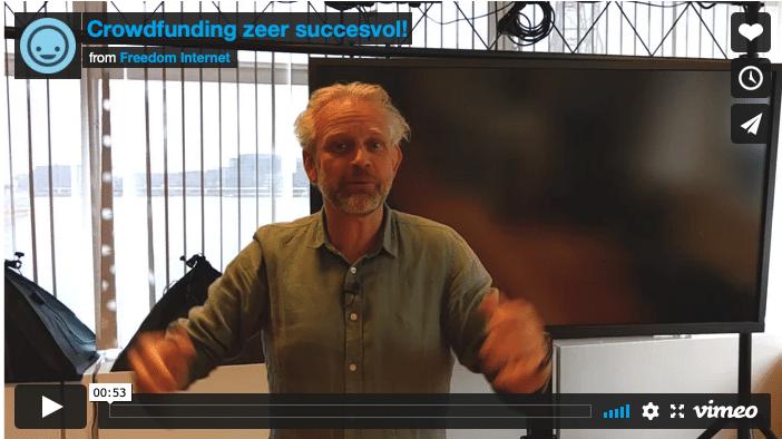 Crowdfunding Freedom Internet zeer succesvol