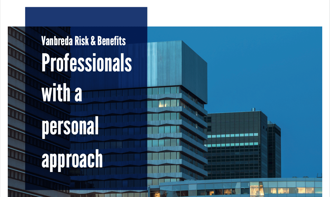 Download Vanbreda Risk & Benefits – Professionals with a personal approach